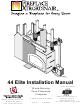 FireplaceXtrordinair 44 Elite Installation Manual
