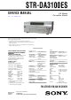 Sony STR-DA3100ES Service Manual