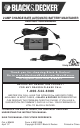 Black & Decker 2 AMP CHARGE RATE AUTOMATIC BATTERY MAINTAINER Instruction Manual