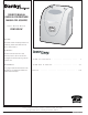 Danby DIM1524W Owner's Manual