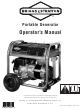 Briggs & Stratton Portable Generator Operator's Manual