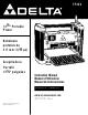 Delta TP305 Instruction Manual