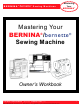 Bernina Sewing Machine Owner's Manual