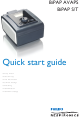 Philips BiPAP AVAPS Quick Start Manual