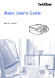 Brother MFC-J200 Basic User's Manual