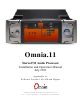 Omnia .11 Installation And Operation Manual