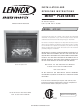 Lennox Hearth Products MPE-36R Installation And Operating Instructions Manual