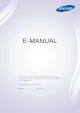 Samsung TV Manual