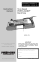 Porter-Cable 725 Instruction Manual