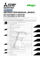 Mitsubishi FR-F700 Series Instruction Manual