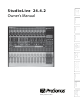 PRESONUS StudioLive 24.4.2 Owner's Manual