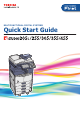 TOSHIBA E-Studio 205L Quick Start Manual