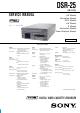 Sony DSR-25 Service Manual