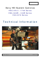 Sony HDC-25 Series Technical Information