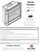 Travis Industries 864 HH Installation Manual