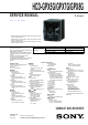 Sony HCD-GPX5G Service Manual