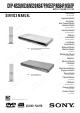 Sony DVP-NS38 Service Manual