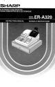 Sharp ER-A320 Instruction Manual