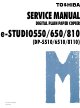 toshiba e-studio550 Service Manual