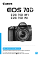 Canon EOS 70DN Basic Instruction Manual