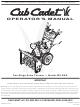 Cub Cadet 528 SWE Operator's Manual