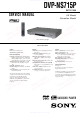 Sony DVP-NS715P Service Manual