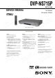 Sony DVP-NS715P Service Manual