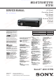 Sony MEX-BT2707E Service Manual