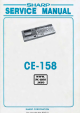Sharp CE-158 Service Manual