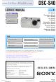 Sony DSC-S40 Service Manual