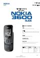 Nokia 3600 Slide Service Manual