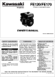 Kawasaki FE120 Owner's Manual