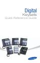 Samsung Digital Keysets Quick Reference Manual