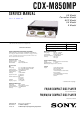Sony CDX-M850MP Service Manual