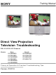 Sony KV-32HS500 Training Manual