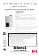 Rinnai E75CN Installation & Servicing Instructions Manual