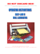 Banner American Easy-lam II Operating Instructions Manual