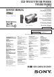 Sony CCD-TRV107 Service Manual