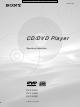 Sony DVP-S345 Operating Instructions Manual
