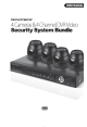 Monoprice 4 Cameras and 4 Channel DVR Video Security System Bundle User Manual