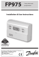 Danfoss FP975 Installation & User's Instructions