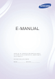 Samsung Smart TV E-manual
