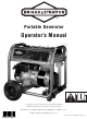 Briggs & Stratton Portable Generator Operator's Manual