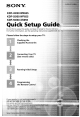 Sony KDF-42 WE655 Quick Setup Manual