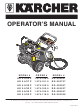Kärcher DG-232437 Operator's Manual
