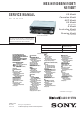 Sony MEX-N5100BE Service Manual