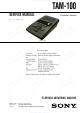 Sony TAM-100 Service Manual