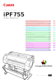 Canon iPF755 User Manual