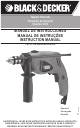 Black & Decker HD400 Instruction Manual