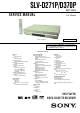 Sony SLV-D370P Service Manual